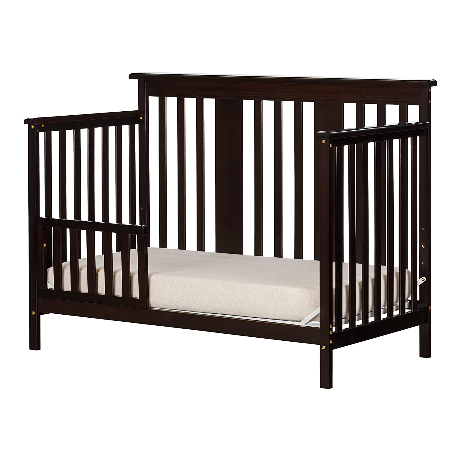 Espresso South Shore Furniture 11850 Little Smileys Baby Crib 4 Heights with Toddler Rail