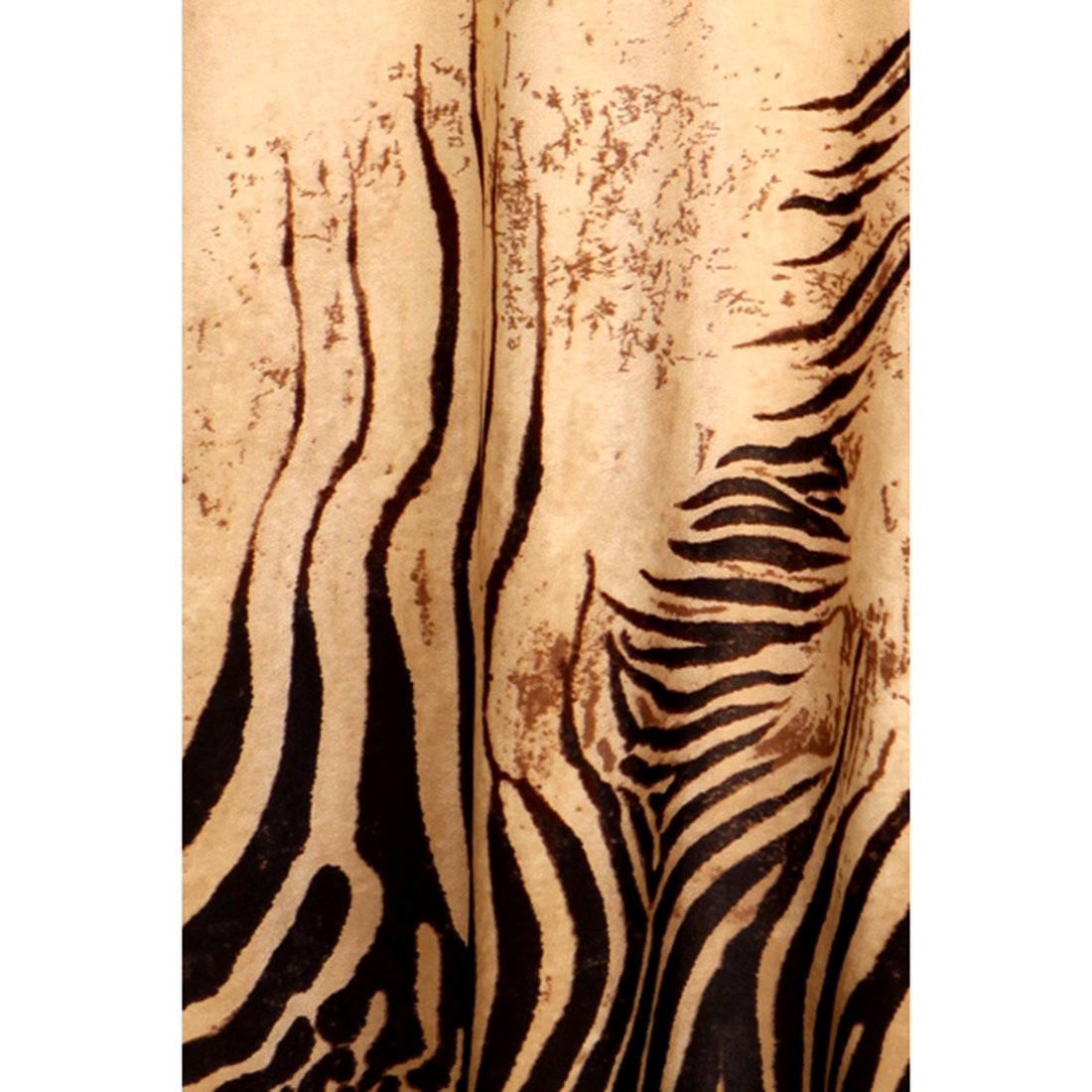 6d60a48b4c1 Crazy4Bling Plus Size Zebra Print High Waist Maxi Skirt in Brown Tones