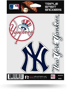 Rico MLB Yankees Triple Spirit Stickers, Multi, One Size (MSS4701)