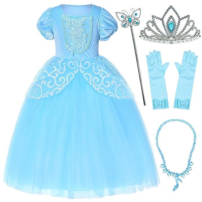 Amazon.com: 9 capas de tul falda de princesa Cenicienta ...