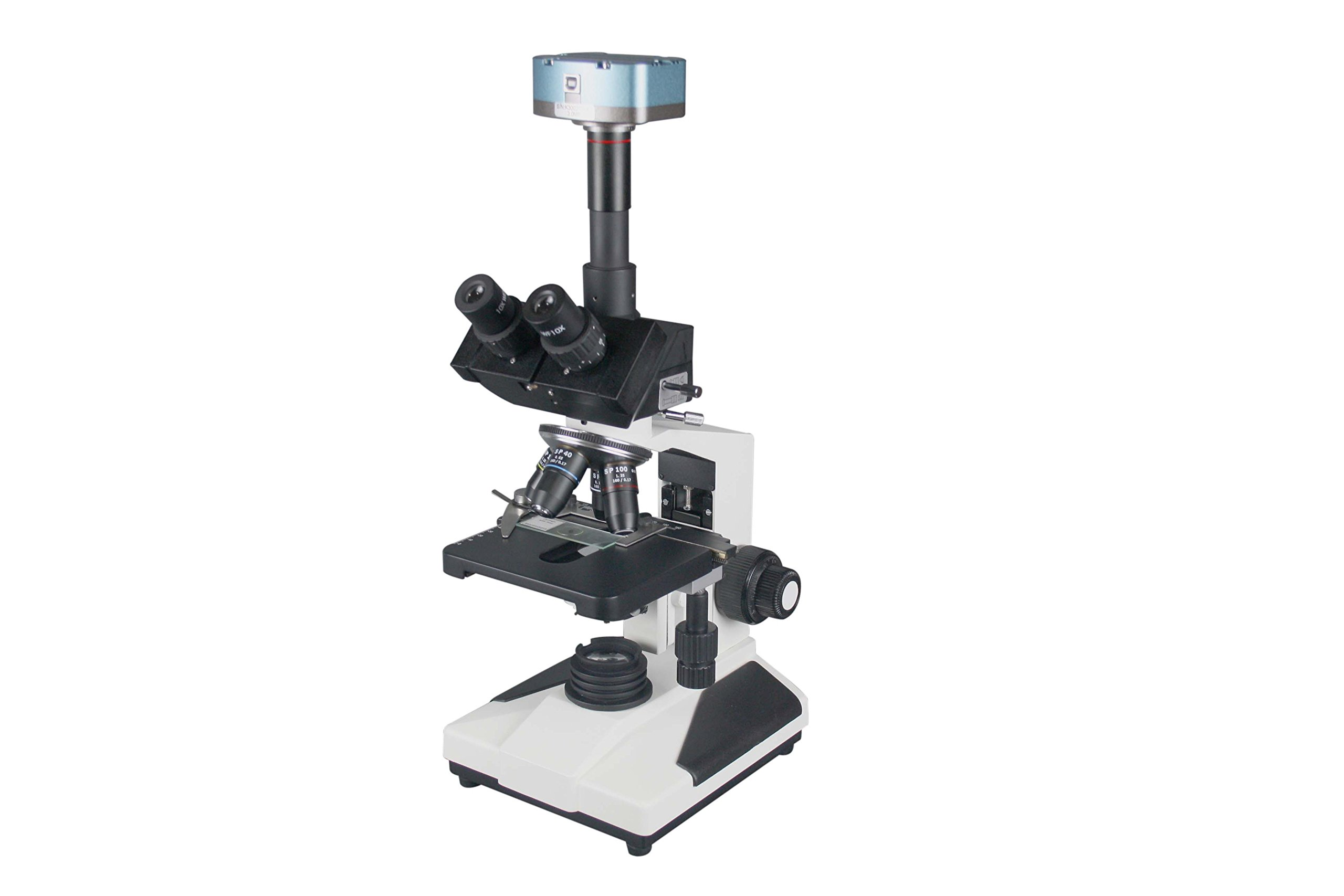 Radical Professional Quality Trinocular Research Phase Contrast Microscope w USB Camera by Radical