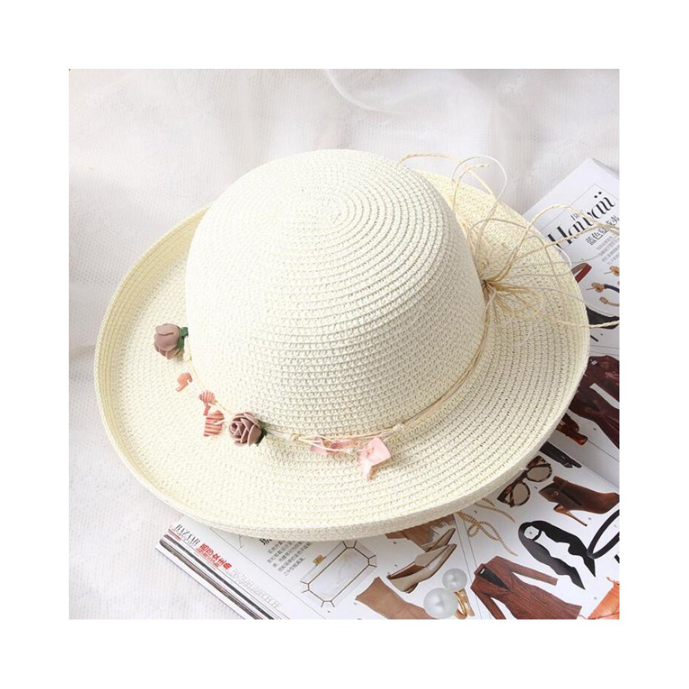 Fashion Summer Sun Hat for Women Spring Travel Panama Chapeau Straw Beach Cap
