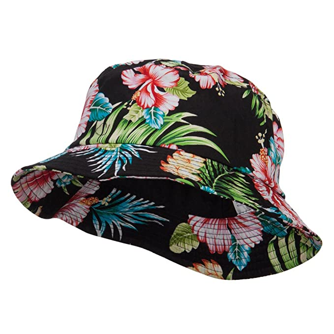 25ac2cc4f30 MG Floral Cotton Bucket Hat at Amazon Women s Clothing store