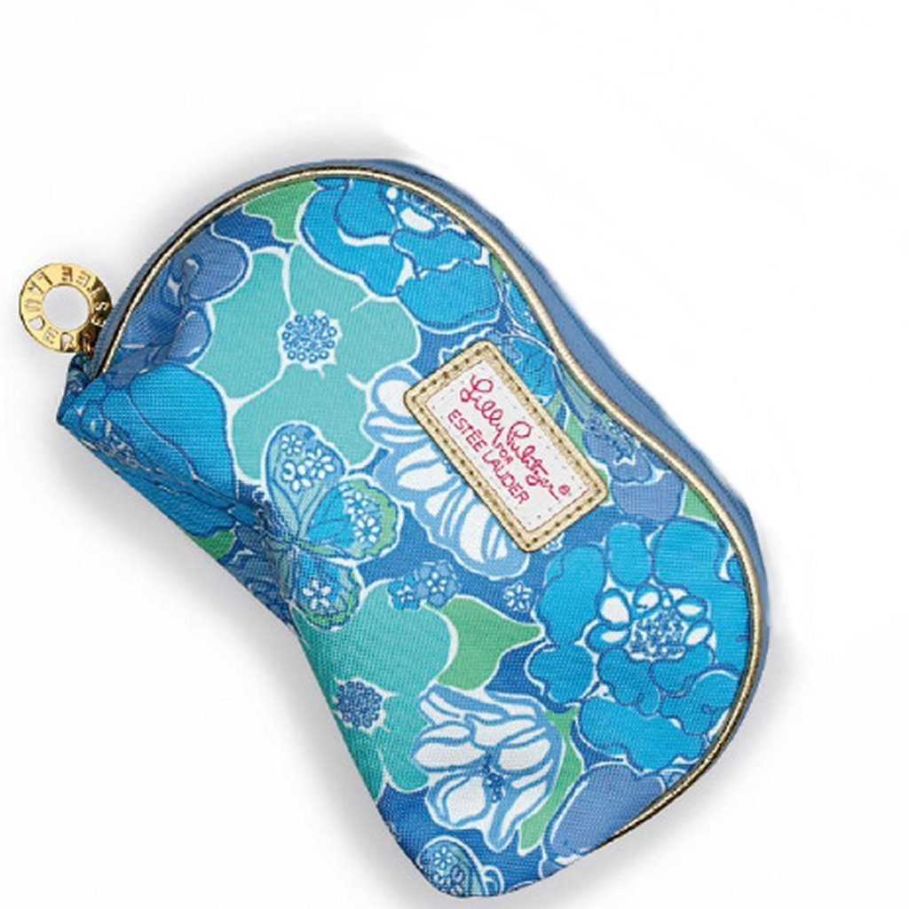 Lilly Pulitzer for Estee Lauder Collection Cosmetic Makeup Bag (Blue Flower) by Estee Lauder: Amazon.es: Belleza