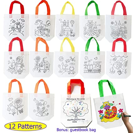 Amazon.com: Sandflower - Bolsas de regalo para fiestas (12 o ...