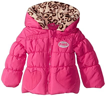 cee6ddab7 Steve Madden Baby-Girls Infant Heart Pockets Polyfill Puffer Jacket ...