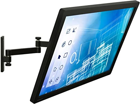 """Dual Monitor Desk Mount with Full Motion Arms for 13/""""-30/"""" Displays Mount-It"""
