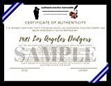 1981 Los Angeles Dodgers Team Autographed Signed