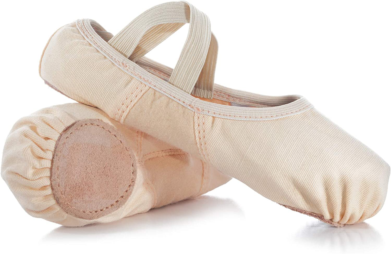 Details about  /RenBut Girls Canvas Slippers with Leather Innersole Arch Ankle and Leather Sup