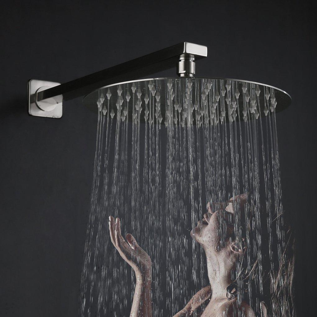 Rain Shower System, Derpras Luxury Bathroom Shower Mixer Set with 10 ...