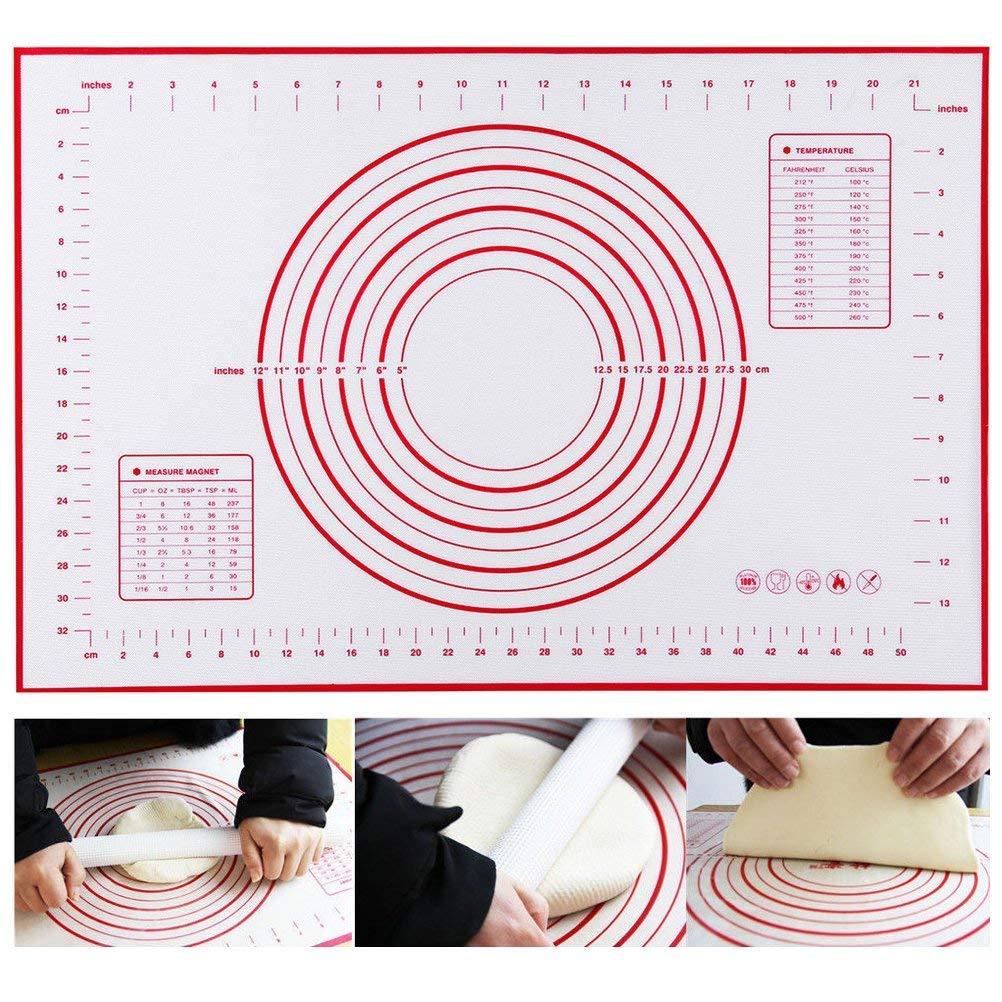 60/x 50/cm in silicone antiaderente cottura Mat impastare Pad fibra di vetro stendere la pasta di grandi dimensioni per torta macaron utensili da cucina