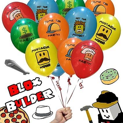 Amazon.com: 20 globos de Blox Builder, juego de cumpleaños ...