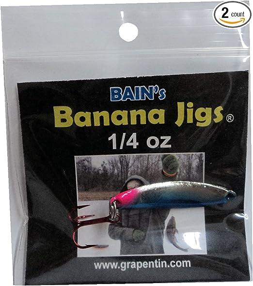 ORANGE 10 Painted Blackfish Walleye Banana Fluke Jig Head Lure Ultra Point Hook