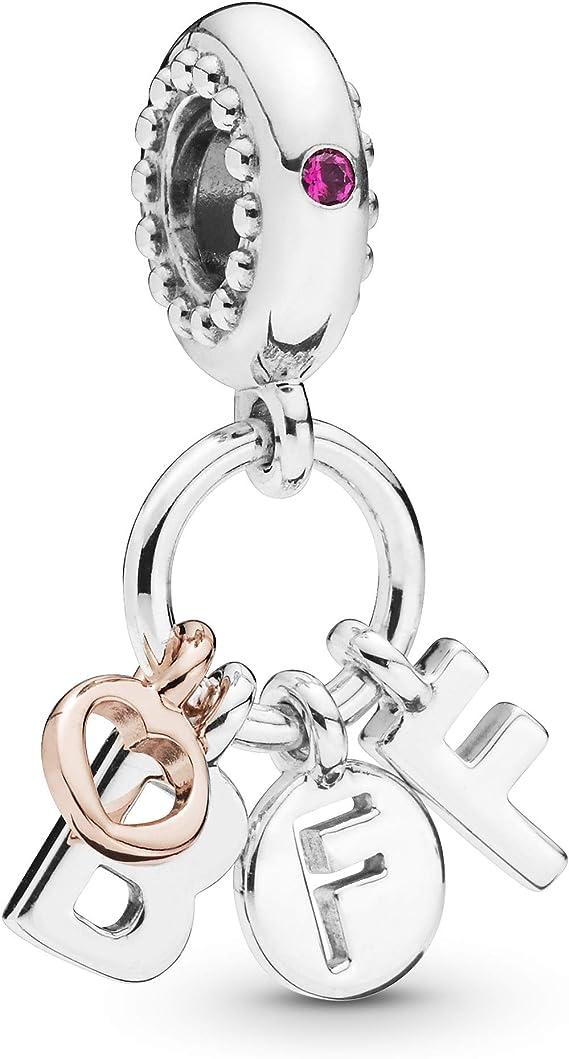 PANDORA Breloque Pandora en forme de rose avec inscription « Best ...