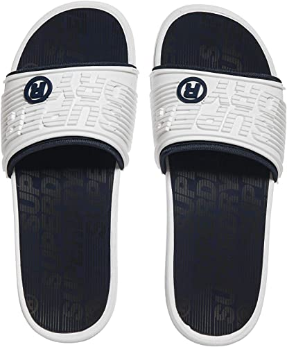 Superdry - sandali da bagno da uomo premium crewe slide optic white sark navy hyper co MF3140SU-V4J