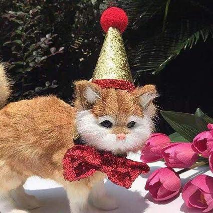 Amazon.com: FAYEAH Gorro de Navidad para mascotas, bonito ...