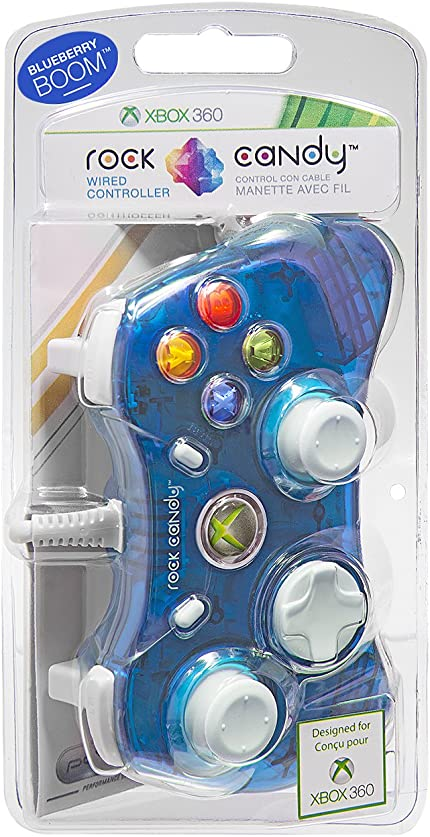 Amazon.com: PDP Rock Candy Wired Controller for Xbox 360, Blueberry ...