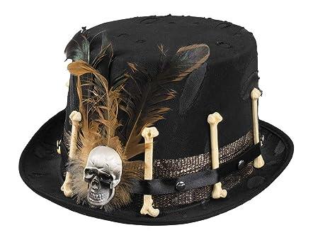 Cappello Voodoo Nana con decorazioni ossa e piume e45c216b3604