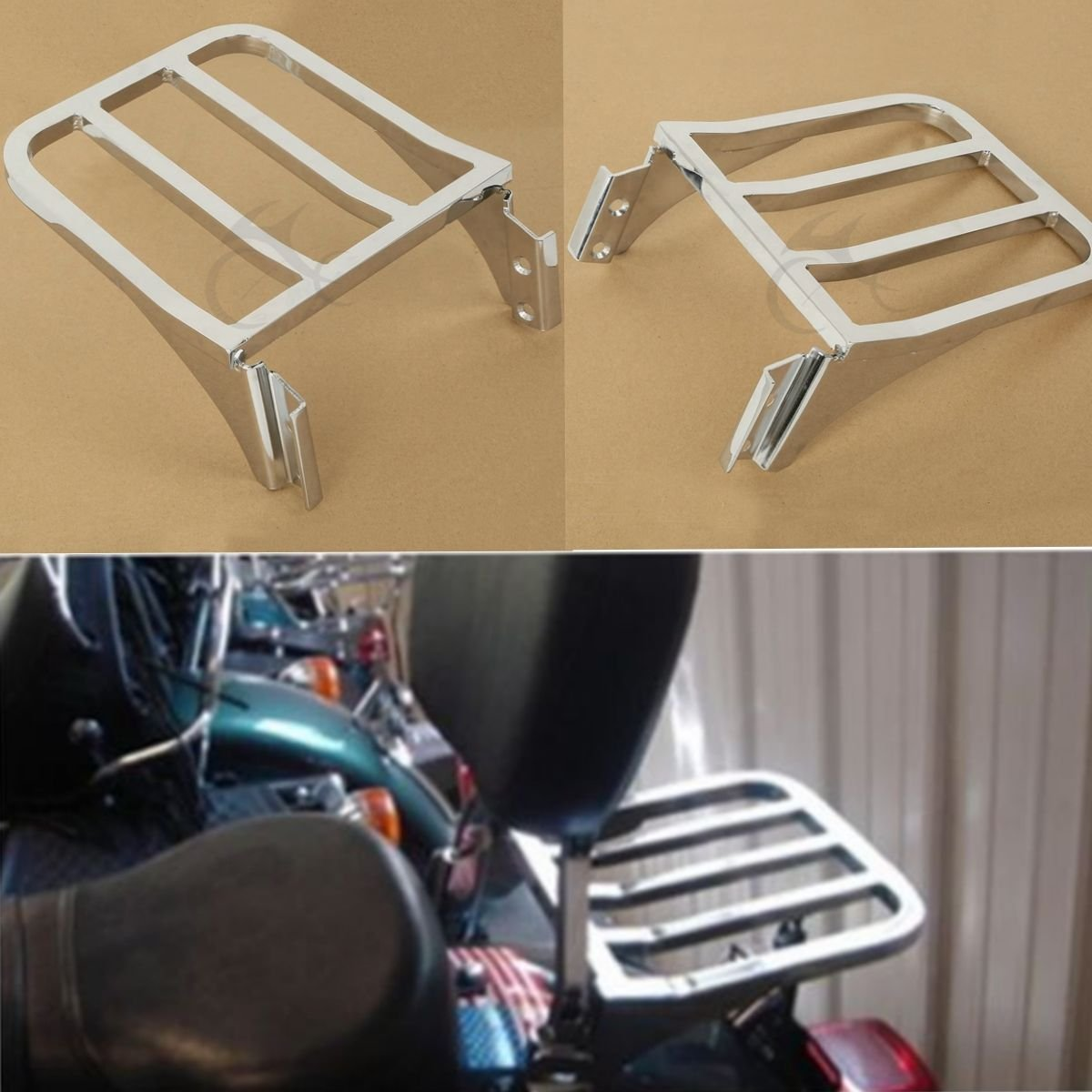 XFMT Chrome Sissy Bar Backrest Sport Detachable Luggage Rack for Harley Softail FLSTF FLST FLSTC FLSTSC 2006-2018