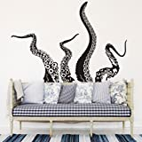 MoharWall Octopus Tentacles Wall Decals Sticker Kraken Sea Creature Monster Animals Vinyl Art Decor Bathroom Living Room Bedr