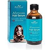 Belle Azul Sérum coiffant réparateur et protecteur à l'huile d'Argan Biologique pour cheveux secs et abîmés ✔ Anti-frisottis ✔ Vegan ✔ 100ml