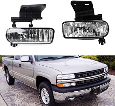 2000-2006 Chevrolet Tahoe Headlight Lamp Clear lens Halogen Left Side