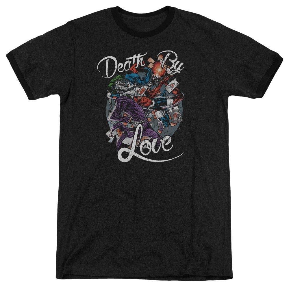 Batman Death by Love Adult Ringer T Shirt XL