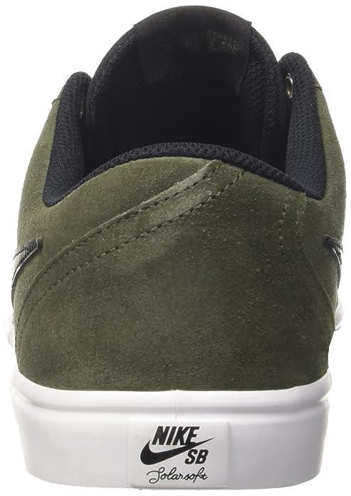 58753f0f51 Nike SB Check Solar Skateboarding Sneakers Cargo Khaki Black 843895-300 ( Medium   13 D(M) US)  Amazon.in  Shoes   Handbags