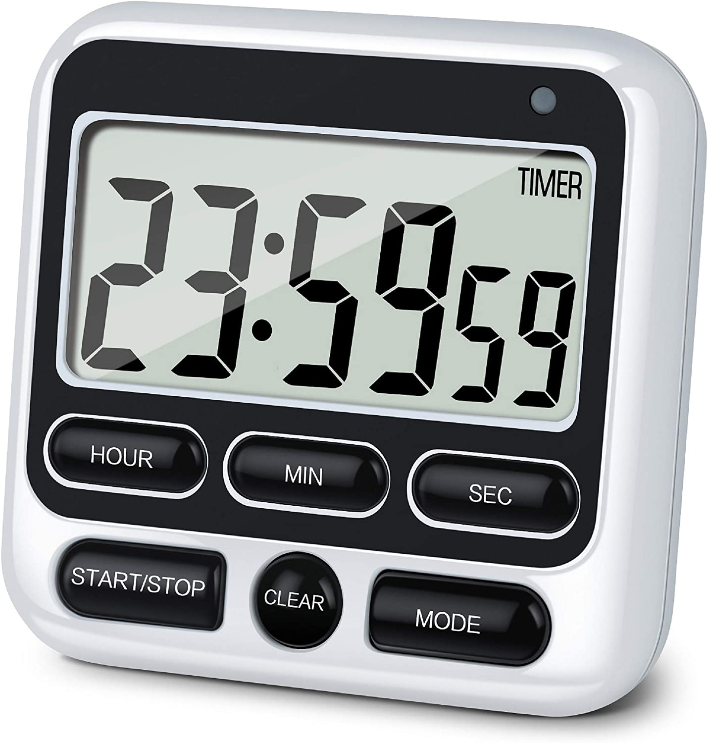 Magnetic LCD Digital Kitchen Timer Count Down Egg Cooking Clear Loud Alarm