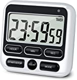 KTKUDY Digital Kitchen Timer with Mute/Loud Alarm Switch ON/Off Switch, 12 Hour Clock & Alarm, Memory Function Count Up…