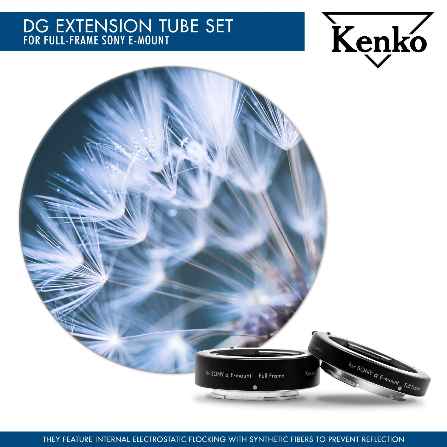 Lens Pouch /& Cleaning Accessories Kenko Extension Tube Set DG 12, 20 /& 36mm Tubes for Canon 1Dx Mark II 5D Mark IV III II 5Ds R 6D Mark II 7D Mark II 90D 80D 70D 77D T7i T6s T6i T5i SL3 T7 T6 /& T5