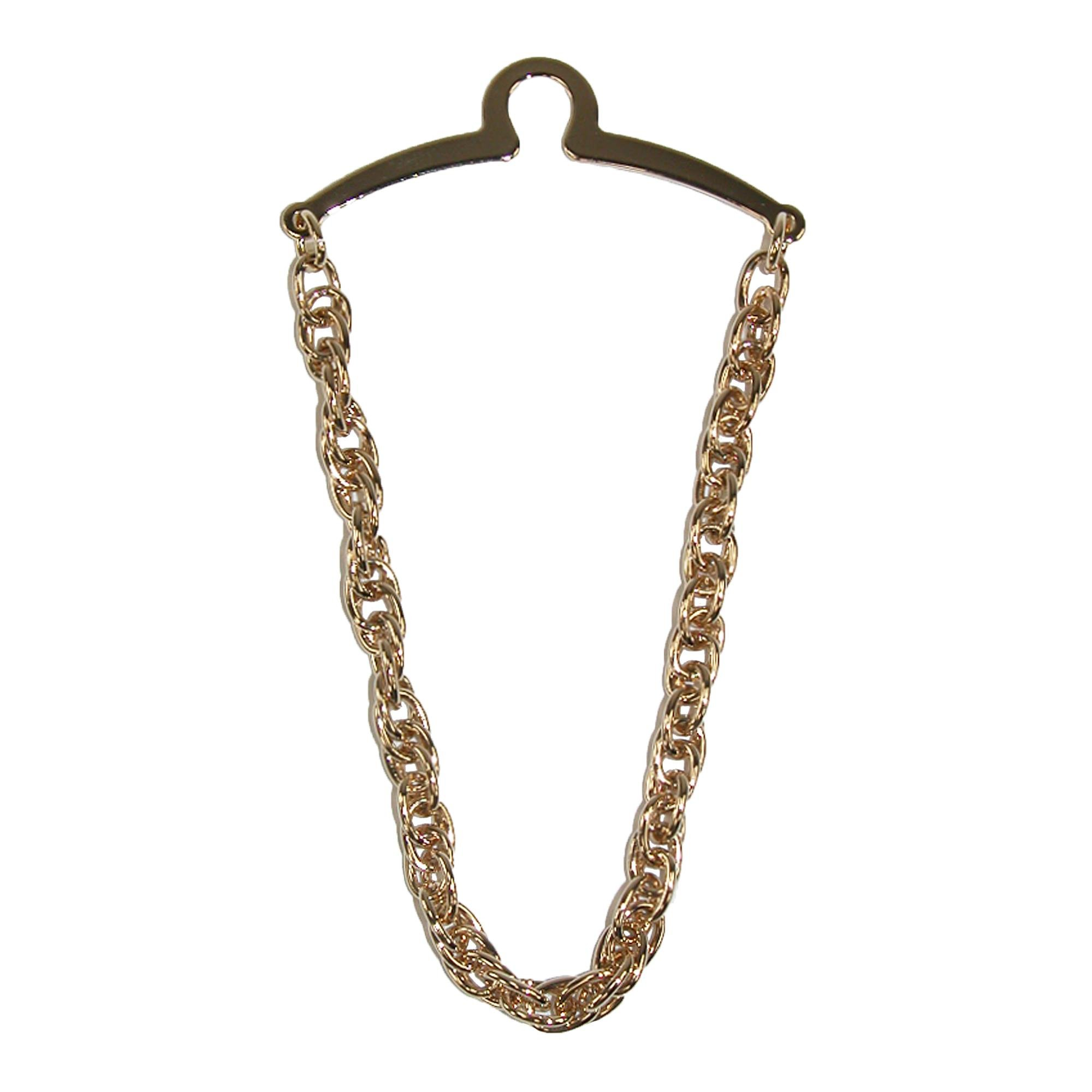 Competition Inc. Men's Double Loop Tie Chain, Gold