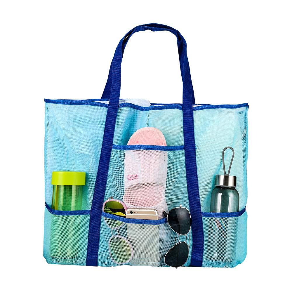 doKool Mesh Beach Bag Oversized Beach Toy Tote Bag