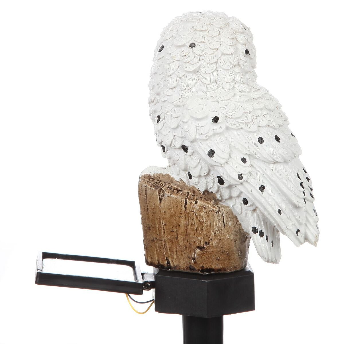 Trenton Gifts Weather Resistant Outdoor LED Solar Owl Light, Garden Stake | White by Trenton Gifts (Image #7)