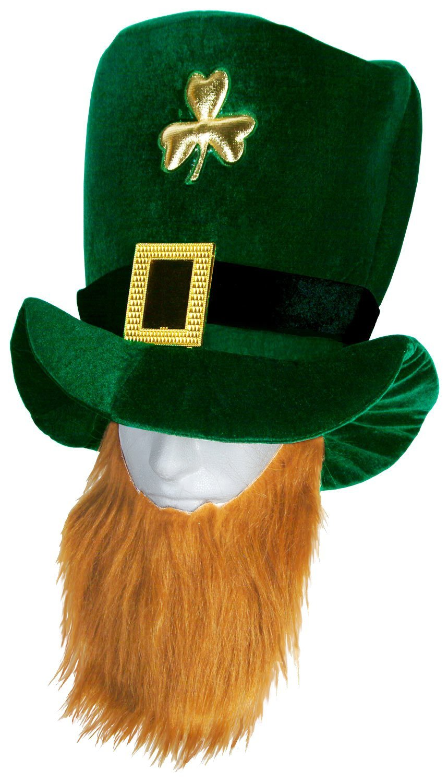 amazon com plush leprechaun hat with beard toys u0026 games