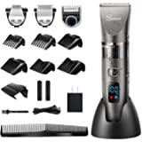 Hatteker Mens Beard Trimmer Cordless Hair Trimmer Hair Clipper Detail Trimmer 3 In 1 for Men Hair Cutting Kit Men's Grooming