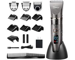 Hatteker Mens Beard Trimmer Cordless Hair Trimmer Hair Clipper Detail Trimmer 3 in 1 for Men Hair Cutting Kit Men's Grooming