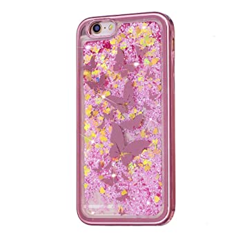 Carcasa Transparente para iPhone 5S se purpurina Liquid Amor ...
