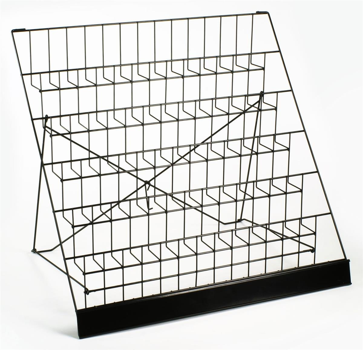 Displays2go Countertop Brochure/Magazine Rack, 6-Tier Organizer, Black Steel (WRC6T2915) by Displays2go (Image #2)