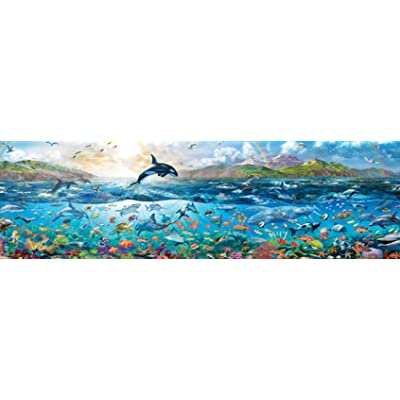 Buffalo Games - Panoramic - The Big Blue Sea - 750 Piece Jigsaw Puzzle: Toys & Games