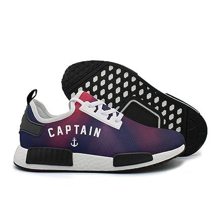 Anchor Captain Sailing Man Sports Running Shoe Training Shoe