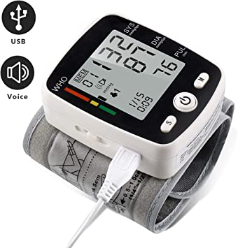 Amazon.com: Monitor de presión arterial de muñeca con carga ...