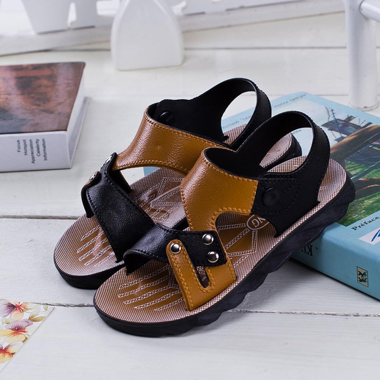 Scothen Unisex Kids Closed Sandals Soft Leather Outdoor Trekking Sandals  Running Shoes Klett Closure Boys Summer Shoes Running Shoes Sandals  Crawling Shoes ...