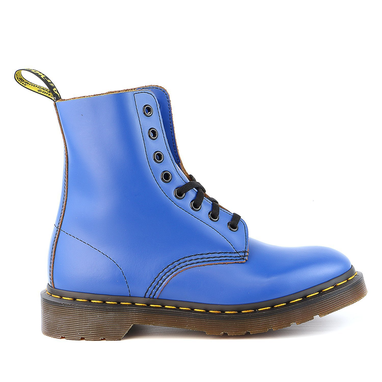 Dr. Martens Men's Pascal 8 Eye Boot B01M72S6XN 6 F(M) UK / 7 D(M) US Men Blue Vintage Smooth