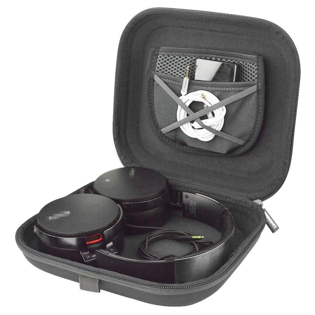 ヘッドホンヘッドセットCarrying Case for Sony MDR, AKG, ATH, B & Oヘッドフォン/Headphone Fullサイズハード旅行バッグ   B01G4SZ8BM