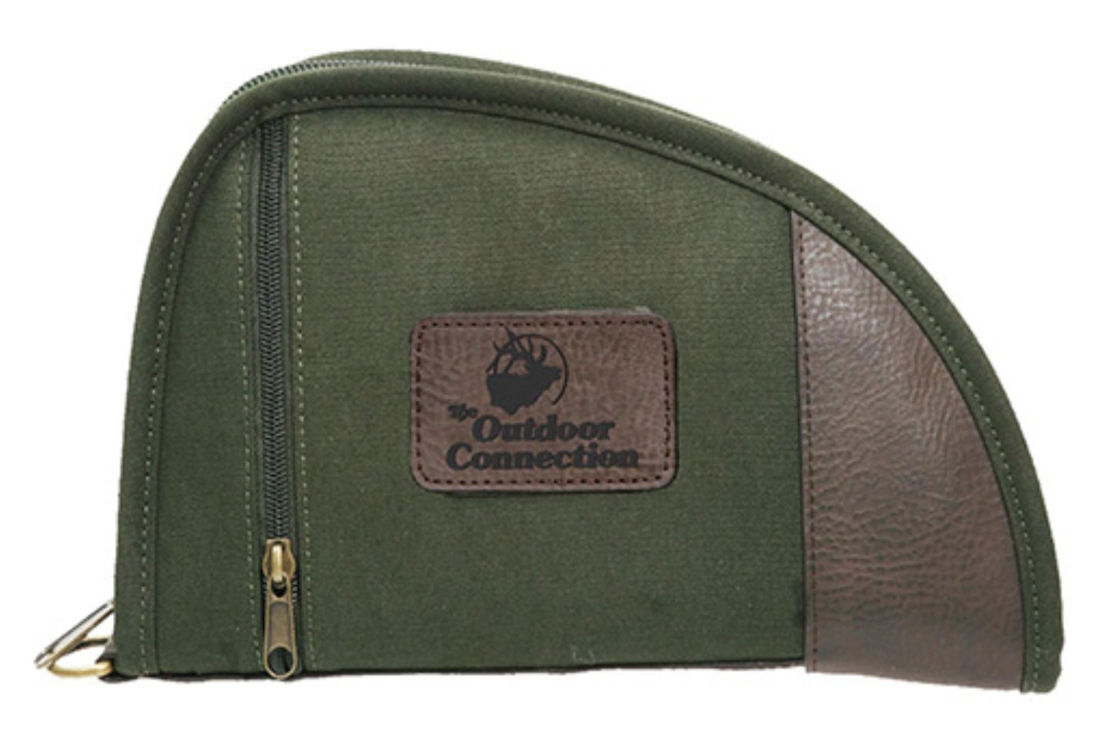 The Outdoor Connection 8'' Canvas Pistol Case, Green, 8''