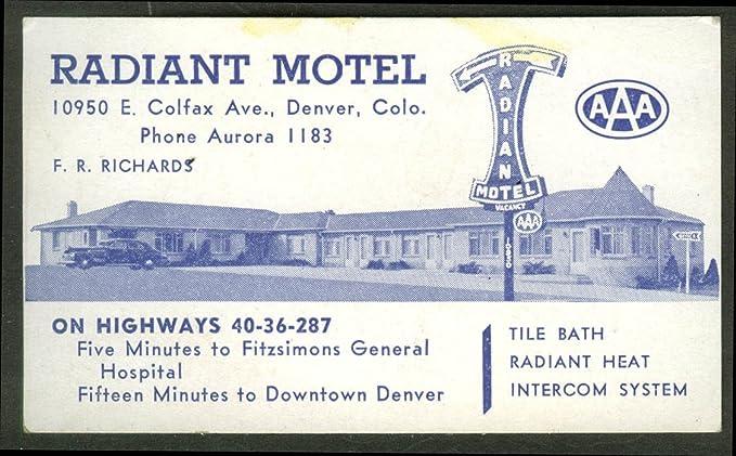 Amazon radiant motel denver co business card tile bath radiant radiant motel denver co business card tile bath radiant heat intercom 1940s colourmoves