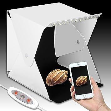 Innens versión actualizada portátil Estudio de fotografía, Mini portátil y Plegable Caja de luz fotográfica Estudio