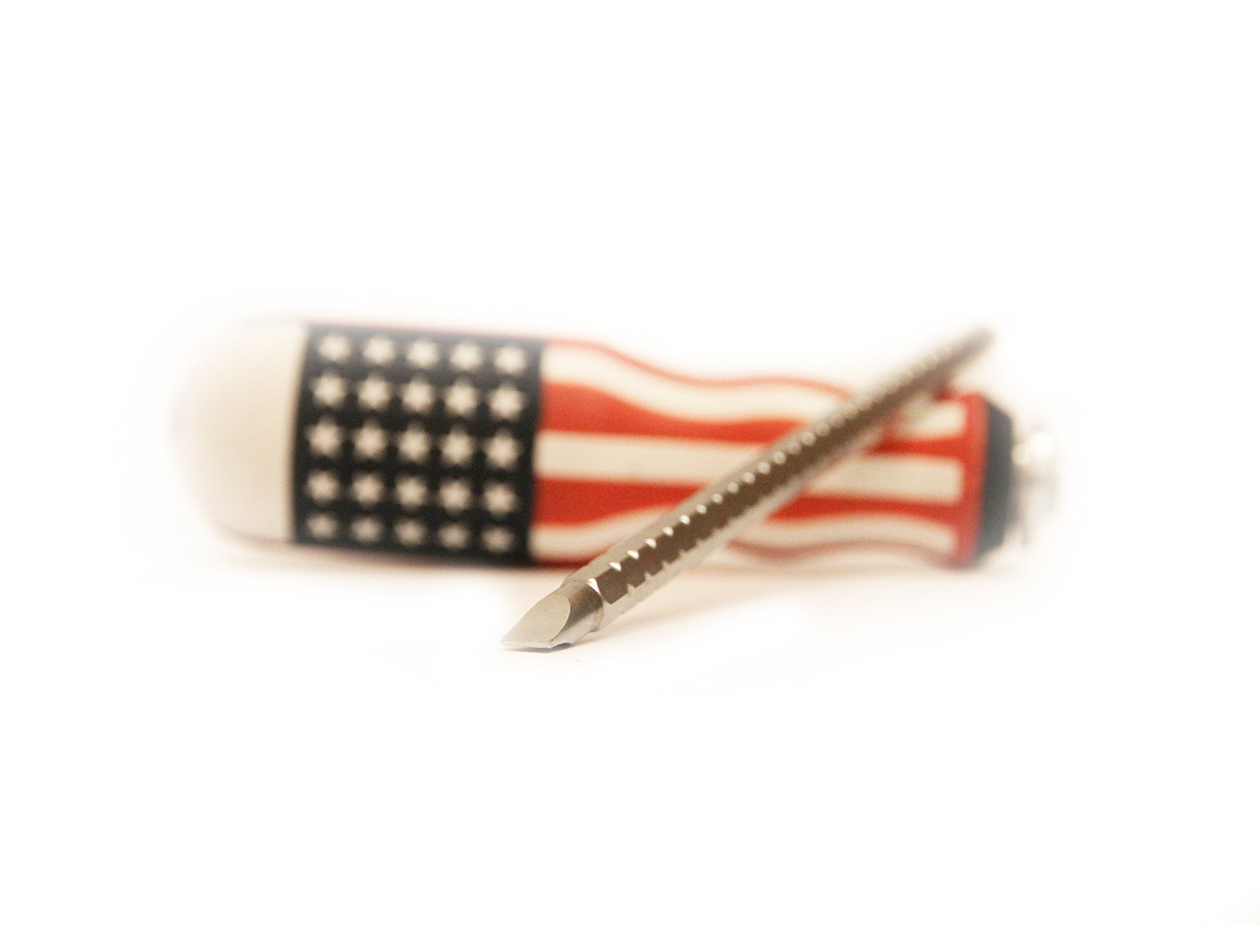 USA Screwdriver 2-in-One Combinations - Flat & Phillips Screwdriver Heads, Magnetic Tips, Heavy Duty Grip Home & Professional Use - American Flag Theme By Steel & Wood US Tools by Steel & Wood US Tools (Image #4)