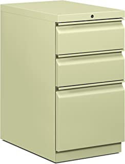 product image for HON Efficiencies Mobile Pedestal File - Storage Pedestal with 1 File and 2 Box Drawers 22-7/8-Inch, Putty (H33723R)